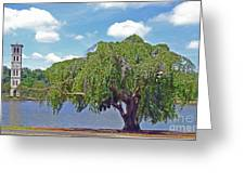 Furman Tree And Tower Greeting Card