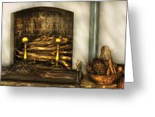 Furniture - Fireplace - A Simple Fireplace Greeting Card