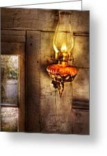 Furniture - Lamp - Kerosene Lamp Greeting Card
