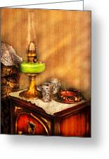 Furniture - Lamp - The Gas Lamp Greeting Card