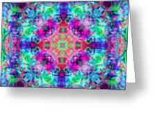 Fushia Rainbow Mandala Greeting Card