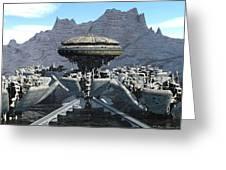 Future Pod City Greeting Card