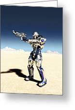 Future Soldier - Taking Aim Greeting Card