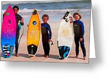 Future Surfing Champs Greeting Card