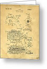Futuristic Toy Gun Weapon Patent Greeting Card