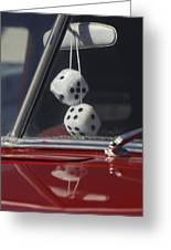 Fuzzy Dice 2 Greeting Card