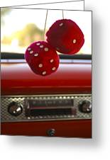 Fuzzy Dice Greeting Card