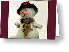 Fuzzy The Snowman Greeting Card