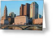 Fx1l922 Columbus Ohio Skyline Photo Greeting Card