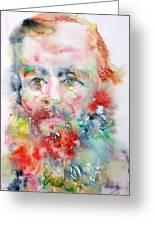 Fyodor Dostoyevsky - Watercolor Portrait.4 Greeting Card