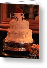G And V Wedding Cake Greeting Card