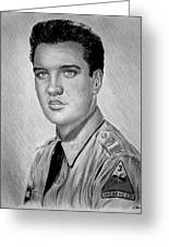 G I Elvis  Greeting Card by Andrew Read