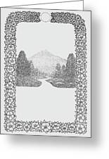 Mountain Walk Border Greeting Card