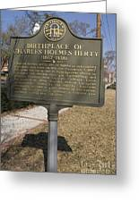Ga-005-10 Birthplace Of Charles Holmes Herty 1867-1938 Greeting Card