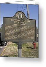 Ga-005-16 Provost Guard Campsite Greeting Card