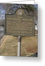Ga-005-1b Old Governors Mansion Greeting Card