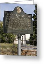 Ga-029-101 Old Athens Cemetery Greeting Card
