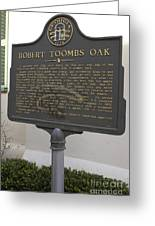 Ga-029-15 Robert Toombs Oak Greeting Card