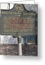 Ga-104-11 William Tappan Thompson Greeting Card