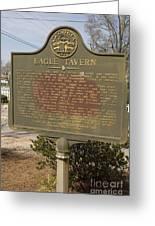 Ga-108-5 Eagle Tavern Greeting Card
