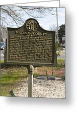 Ga-97-1 Madison County Greeting Card