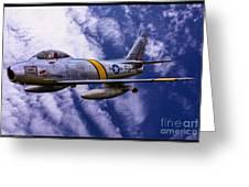 Gabby's F-86e Greeting Card