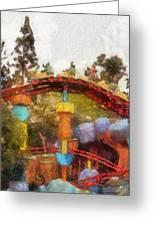 Gadget Go Coaster Disneyland Toontown Photo Art 02 Greeting Card