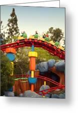 Gadget Go Coaster Disneyland Toontown Greeting Card