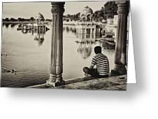 Gadisagar Lake Greeting Card