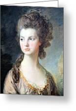 Gainsborough's The Hon. Mrs. Thomas Graham Up Close Greeting Card