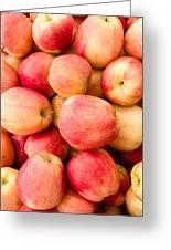 Gala Apples On Display Greeting Card