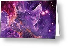 Galactic Angel - Rose Greeting Card