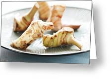Galangal On A Plate Greeting Card