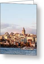 Galata Skyline 02 Greeting Card