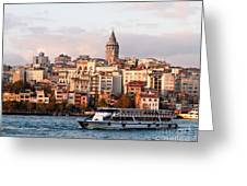 Galata Skyline 03 Greeting Card
