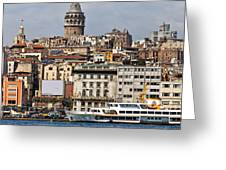 Galata Tower 03 Greeting Card