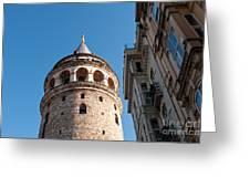 Galata Tower 03 Greeting Card