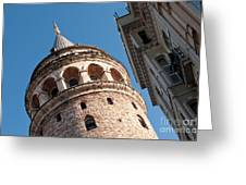 Galata Tower 04 Greeting Card