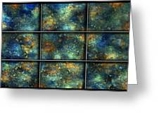 Galaxies II Greeting Card by Betsy Knapp