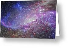 Galaxy Glass Greeting Card