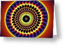 Galaxy Spotlight Kaleidoscope Greeting Card