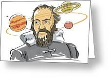 Galileo Galilei Greeting Card