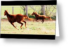 Galloping Horses Greeting Card by Arie Arik Chen