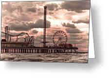 Galveston Island Morning Greeting Card