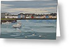 Galway Swans Galway Ireland Greeting Card
