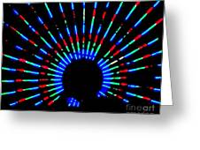 Gama Ray Light Burst Abstract Greeting Card