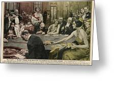 Gamblers At The Tables -  A Winner Greeting Card