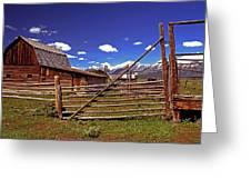 Gambrel Barn And Tetons Greeting Card
