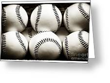 Game Balls Greeting Card by John Rizzuto