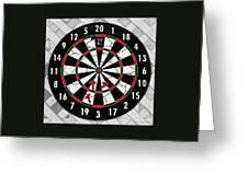 Game Of Darts Anyone? Greeting Card by Kaye Menner